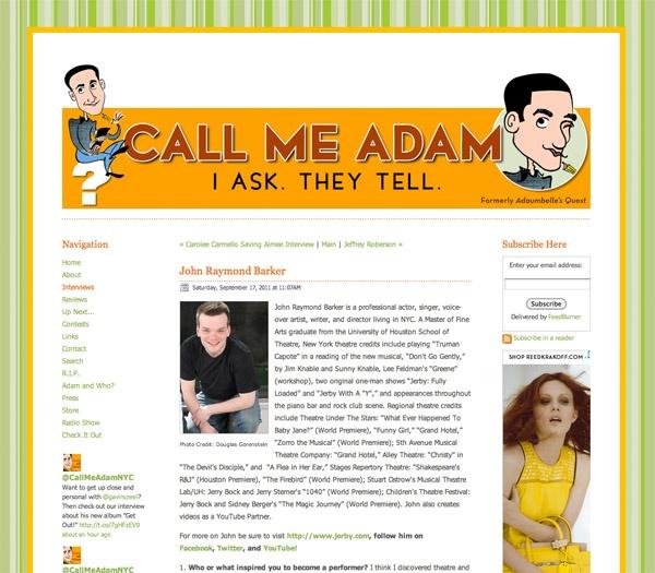Call Me Adam – Interview