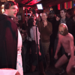 from performing as Princess Leia in Lavinia Draper's show at Stonewall