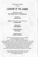 program for Leave It To Jane